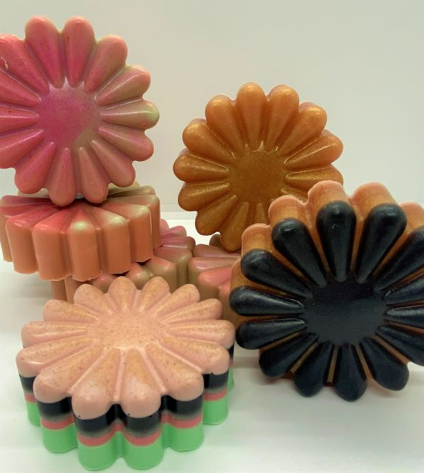 Flower Soaps 4 count